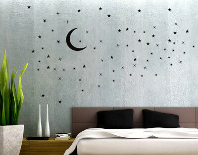 ADESIVI MURALI PER camera da letto stelle luna wall stickers ...