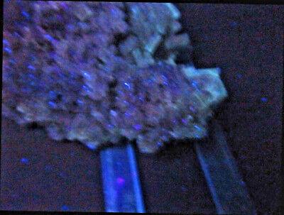 "Minerales""Extraordinarios Cristales Barita Azul Mina Moscona Asturias - 8A13"" 10"