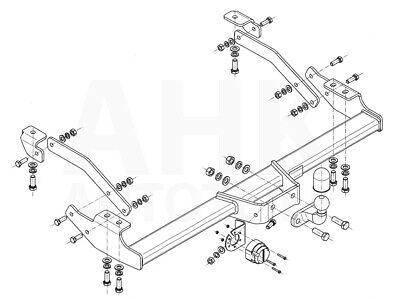 Für Renault Trafic III Kasten/Minibus Anhängerkupplung starr+ESatz 7pol ABE 11