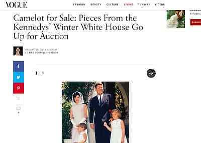 Rose Kennedy Steamer Trunk White Winter House Auction Palm Beach Leslie Hindman 7