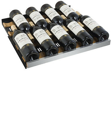 Allavino 56 Bottle Built-In Wine Cooler Refrigerator Stainless Steel Dual Zone 10