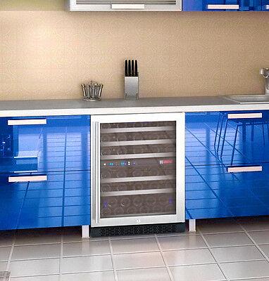 Allavino 56 Bottle Built-In Wine Cooler Refrigerator Stainless Steel Dual Zone 11