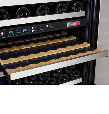 Allavino 56 Bottle Built-In Wine Cooler Refrigerator Stainless Steel Dual Zone 6