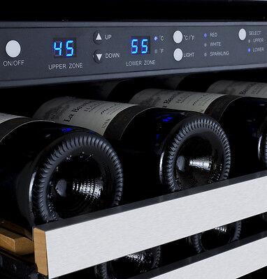 Allavino 56 Bottle Built-In Wine Cooler Refrigerator Stainless Steel Dual Zone 3