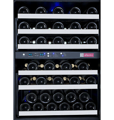 Allavino 56 Bottle Built-In Wine Cooler Refrigerator Stainless Steel Dual Zone 4