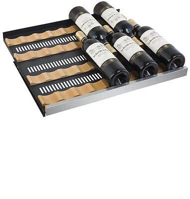 Allavino 56 Bottle Built-In Wine Cooler Refrigerator Stainless Steel Dual Zone 9