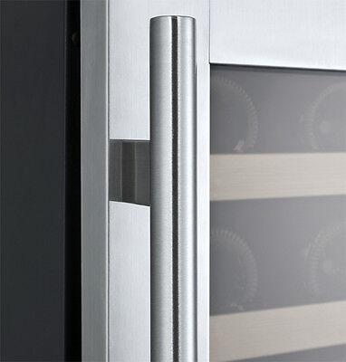 Allavino 56 Bottle Built-In Wine Cooler Refrigerator Stainless Steel Dual Zone 5