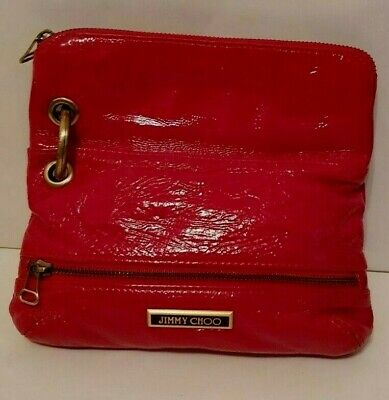 Original Jimmy Choo Damen Tasche Clutch Handtasche echtes  Leder, Lackleder TOP! 3