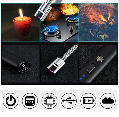 USB Electric Rechargeable ARC Flameless Windproof Plasma Lighter Aluminum Metal 2