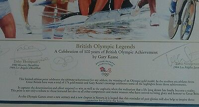 British  Olympic  legends signed print. NOW REDUCED. 2