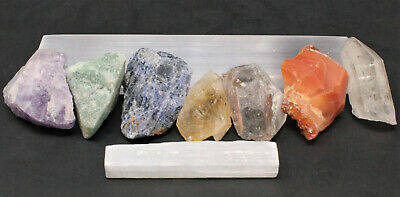 """Polished Selenite Charging Station: 6"""" Flat Crystal Plate (Cleansing) 5"""