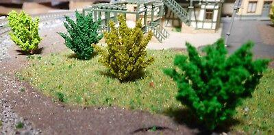 50 Büsche, 40 mm hoch, hellgrün, mittelgrün, dunkelgrün, dunkelgelbgrün 2