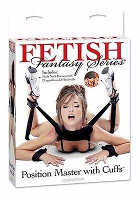 Imbragatura bondage moschettoni fasce spalle manette fetish Position Master posi 2 • EUR 42,65