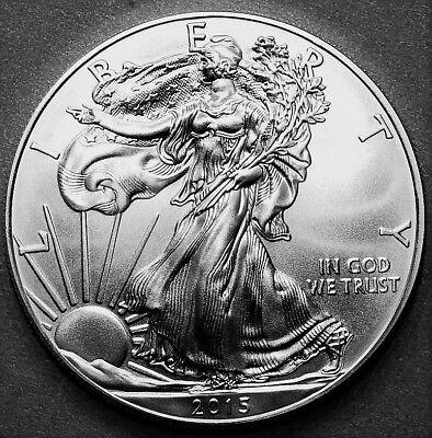 2015 American Silver Eagle BU 1 oz Coin US $1 Dollar Uncirculated Brilliant *015 2
