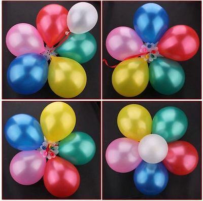 5//10//25x Flower Balloons Clip Ties Decorative Stick N Cups DIY Party Supplies UK