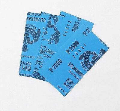 "50 sheets FINE Sandpaper Wet /Dry 3""x 5 1/2"" COMBO 1500/2000/2500/3000/5000 Grit 2"