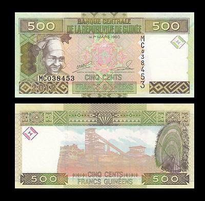 10 x 500 Francs Guinea UNC /> colorful Pick 39b 2012 LOT