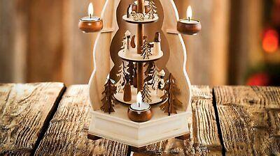 German Christmas Carousel Pyramid windmill wood Nativity Scene-22 in Decoration