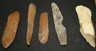 10 Egyptian Faiyum Predynastic Flint Flaked Hand Stone Tools 7400-6400 BC #4