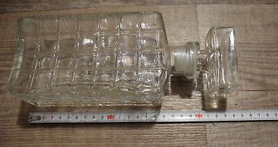 Alte Whiskykaraffe?? Flasche Glaskaraffe Glas 0,5 L 3