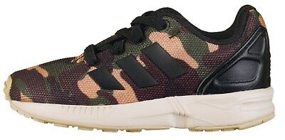 ADIDAS ORIGINALS ZX Flux Boys Camo Baby Infant Trainers Army