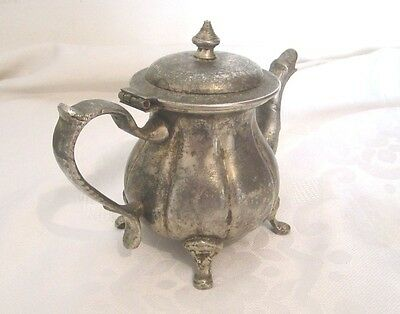 Antique Vintage Art Deco Silver Islamic Arabic Tea Coffee Pot Signed Hand Design 5