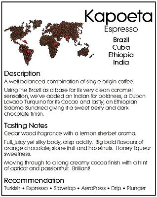 490g DONGOLA KAPOETA Fresh Roasted Coffee Special Blend Whole Bean or Ground 2