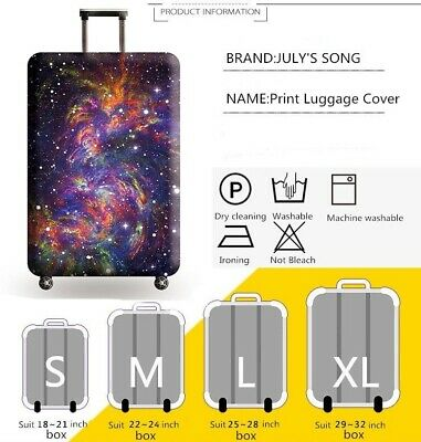 Travel Luggage Cover Galaxy Starry Elastic Anti-Scratch Suitcase Dust Protector 6