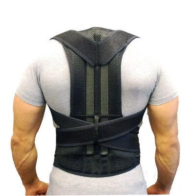 Unisex Posture Corrector Lumbar Lower Back Support Shoulder Brace Pain Magnetic 2