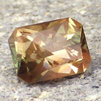 Peach-Pink-Green Dichroic Oregon Sunstone 5.05 Ct Flawless-Unique Faceting-For Top Jewelry-Video