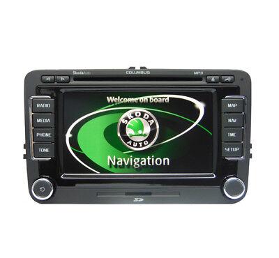 SKODA COLUMBUS SAT Nav car stereo, Octavia Navigation radio CD player, 2019  MAPS
