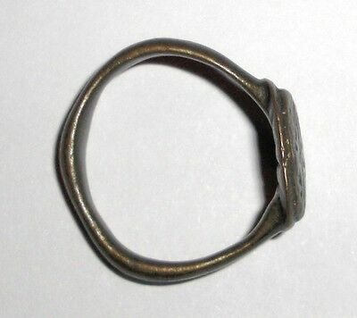 Ancient Byzantine Empire, 8th - 10th c. AD. Bronze Ring 3