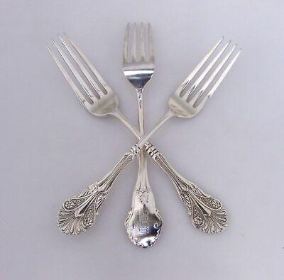 Corinthian Large Dessert Forks 3 Shiebler Sterling Silver 1855 3