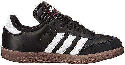 36dd177b3ed06 ... adidas SAMBA CLASSIC J Youth Boys Black/Runwht 036516 Leather Soccer  Shoes 6
