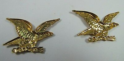 Old Pair Brass Figural Eagle Decorative Ornamental Hardware Adornments detailed 6