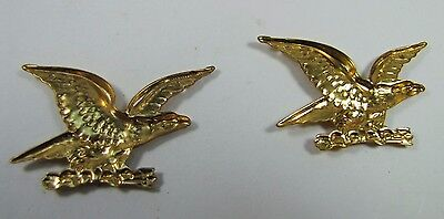 Old Pair Brass Figural Eagle Decorative Ornamental Hardware Adornments detailed