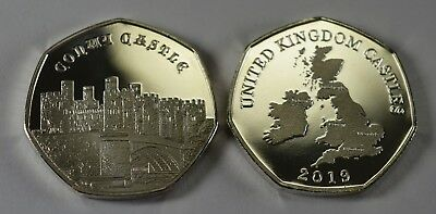 Pair of CONWY CASTLE Commemoratives. 24ct Gold. Silver. Albums/Filler NEW 2019 4