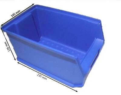Sichtlagerboxen Gr.5 Stapelbox Schraubenbox Box blau STABIL 12 Stück