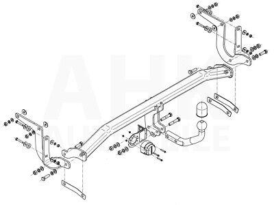 AHK Kpl. Für Peugeot 308 SW 08-14 Anhängerkupplung starr+ES 13p spez