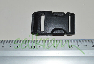 4 Stück Blitzverschluss, Steckverschluss, Steckschnalle für 25 mm Gurtband