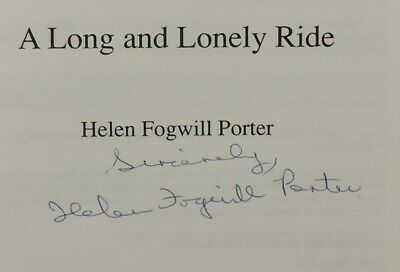 A Long and Lonely Ride by Henel Fogwell Porter SH21 4