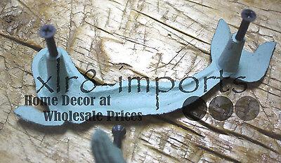 4 Cast Iron NAUTICAL MERMAID Style Drawer Pull, Barn Handle, Door Handles Beach 3