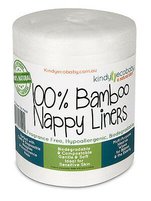 220 Flushable Bamboo Nappy/Diaper Liners/Inserts PREMIUM QLTY, cloth/disposable