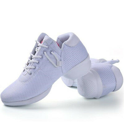 35-41 Ladies Lycra Dance Shoes Comfortable Round Toe 4CM Heel Sports Trainers 10