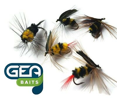 Bumble Flies Good Loch Fly Fishing Flies 6 x Claret Bumbles Wet Fly Size 10//12