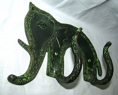 An Attractive & beautiful Elephant Designed COAT HOOK from India, Brass made 2