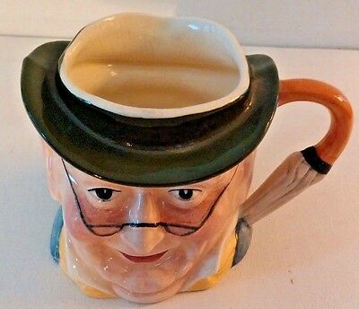 Antique Hand Painted Staffordshire England Character Mr Pickwick Toby Jug Mug 3