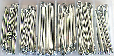 144pc GOLIATH INDUSTRIAL LONG COTTER PIN ASSORTMENT LCP144 SET EXTRA LARGE CLIP 2