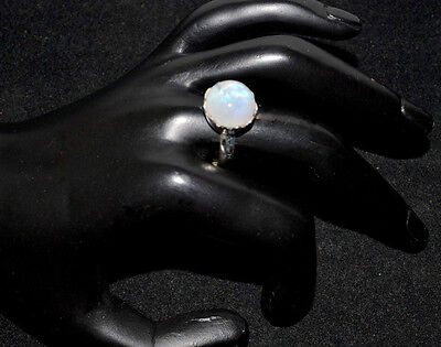 Mystic Moonstone Natural Gemstone Rings 925 Sterling Silver Ring All Sizes L - Z 5