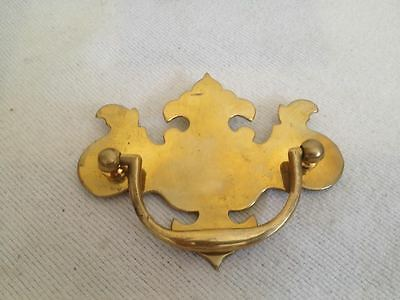 Set of 4 BRASS Antique Repro DRAWER DRESSER CABINET CUPBOARD HANDLE PULLS 2